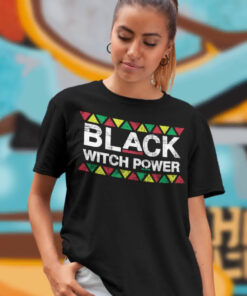 Black Witch Power Woman T-Shirt