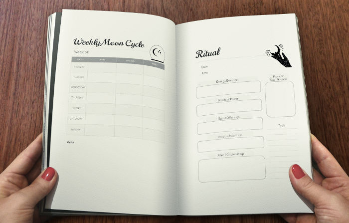 WitchTee Book of Shadows & Grimoire Sample pages